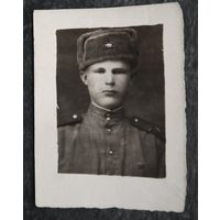 Фото солдата. 1949 г. 6.5х9 см