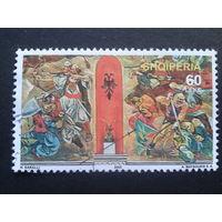 Албания 2005 живопись марка из блока