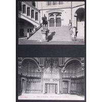 СТАРИННЫЕ ОТКРЫТКИ ~ ОРИГИНАЛ ~ Обе 1905 года ~ 2 штуки ~ Марки Франции + штампы - лот # 19
