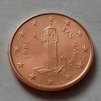 1 евроцент, Сан-Марино 2004 г., AU