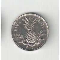 5 центов 2000 года Багамских островов 20-22