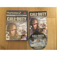 PS2 - Call of Duty. Finest Hour - Лицензионный диск