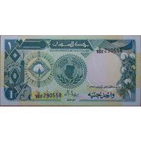 Судан. 1 фунт 1987 года P39 UNC