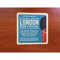 Подставка под пиво WetherSpoon No 3, London Beer Festival /Великобритания/