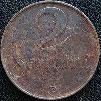 YS: Латвия, 2 сантима 1922, KM# 2