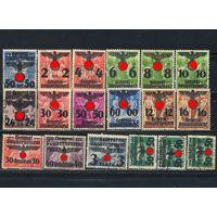Германия Генерал-губернаторство 1940 Надп на польских марках #15,17-25,29-31,33-36,38