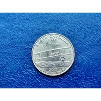 США. 25 центов (квотер, 1/4 доллара) 2001 D. Северная Каролина. (2).
