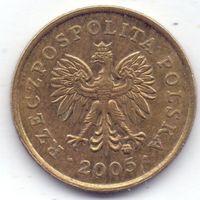 Польша, 1 грош 2005 года.