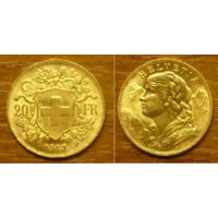 Золотая монета Швейцарии 20 франков 1927 г