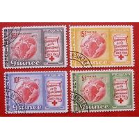 Гвинея. Красный крест ( 4 марки ) 1963 года.