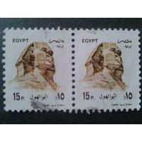 Египет 1993 сфинкс пара малый размер