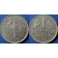 ФРГ, 1 марка 1991 А, монетный двор Берлин