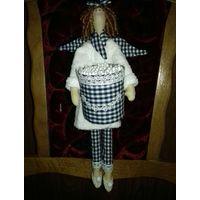 Интерьерные куклы в стиле Тильда - Хранительница ватных палочек и Сонные Ангелочки
