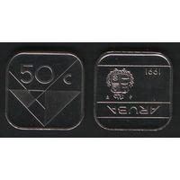 Аруба _km4 50 центов 1991 год (ba) (b06)