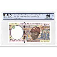 Центрально Африканские Штаты Камерун 5000 франков слаб PСGS 66  UNC