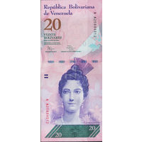 20 боливаров Венесуэла 2014г. UNC
