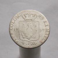 Пруссия 4 грошена 1797 Король Фридрих Вильгельм II м.д.Кёнигсберг