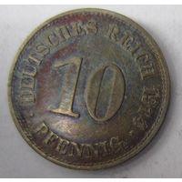 Германия. 10 пфеннигов 1914 E. 1-74