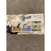 Бенин 2005. Боевая авиация Первой Мировой войны. Малый лист