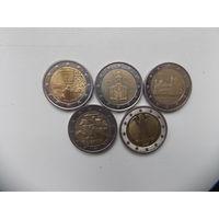 Монеты евро 1