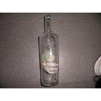 Бутылка из под ликера(с остатками этикетки)ПМВ.