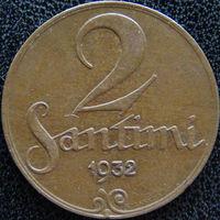 YS: Латвия, 2 сантима 1932, KM# 2 (2)