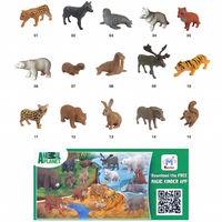"""Фигурки """"Планета Животных 2015 (Animal Planet)"""" от Ферреро -Ferrero - рысь, белый медведь, гризли"""