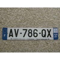 Автомобильный номер Франция AV-786-QX