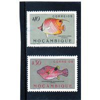 Мозамбик.Ми-386,389.Рыба-бабочка (Chaetodon Auriga), Пуффер (Canthigaster margaritatus). Серия: Рыбы