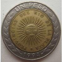 Аргентина 1 песо 1994 г. (d)