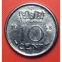 27-29 Нидерланды, 10 центов 1948 г.