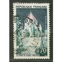 Цезарева башня в Провене. Франция. 1964. Полная серия 1 марка