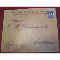 Конверт из Варшавы, начало 20 века