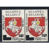 Беларусь Респ 1994 Чемпионат мира по футболу в США Надп #53I,53II