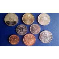 Уганда. набор 8 монет 1987-2008 год