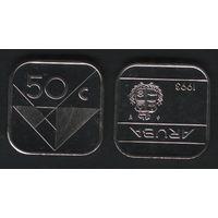 Аруба _km4 50 центов 1993 год (ba) (b06)