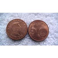 Люксембург 5 евроцентов . распродажа