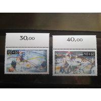 Берлин 1990 Спорт Михель-11,0 евро полная серия