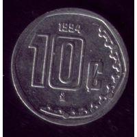 10 сентаво 1994 год Мексика