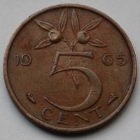 Нидерланды, 5 центов 1965 г