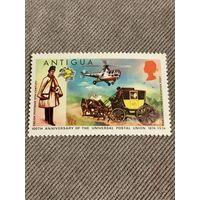 Антигуа 1974. 100 летие Всемирного почтового союза. Марка из серии