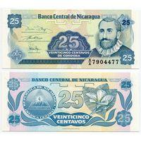 Никарагуа. 25 центавос (образца 1991 года, P170a, подпись 1, UNC)