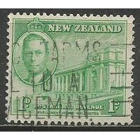 Новая Зеландия. Король Георг VI. Парламент в Велингтоне. 1946г. Mi#282.