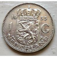 Нидерланды 1 гульден, 1955  1-5-11