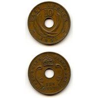 Британская Восточная Африка 10 центов 1951 г. KM#34 (Георг VI)