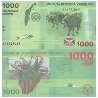 Бурунди 1000 франков образца 2015 года UNC p51