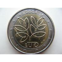 Финляндия 2 евро 2004 г. Расширение ЕС. (юбилейная)