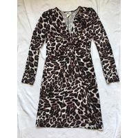 Платье 46-48 Вискоза Как новое леопардовая расцветка