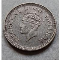 Индия 1/4 рупии 1944 г.
