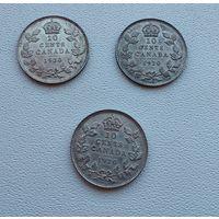 Канада 10 центов, 1920  7-6-32*34